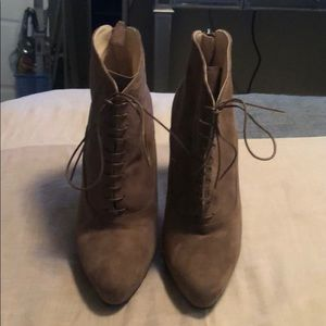 Brown Prada ankle boots in suede size 40.5